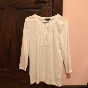 Chaps large white shirt